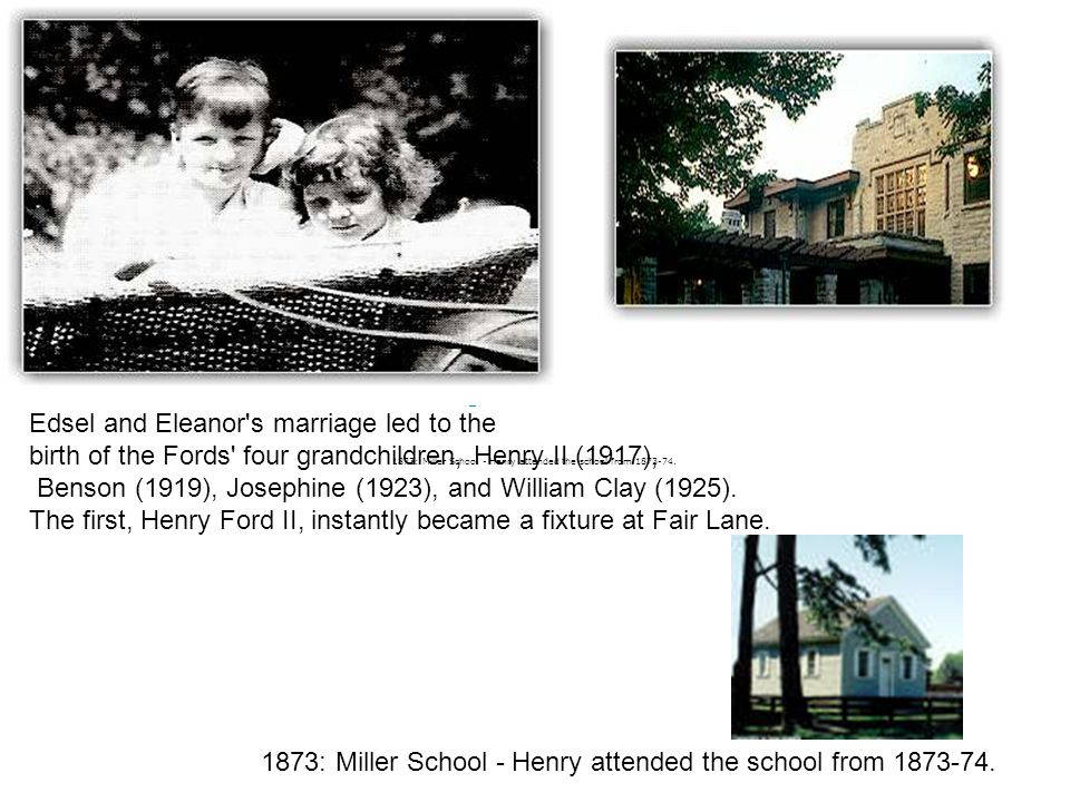 Edsel and Eleanor s marriage led to the
