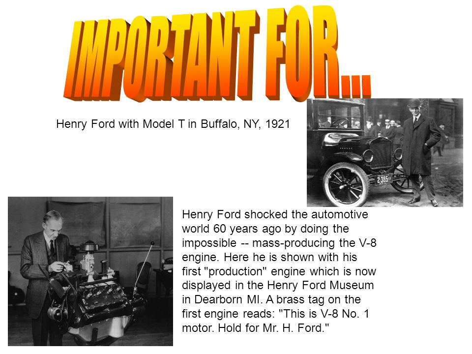 IMPORTANT FOR... Henry Ford with Model T in Buffalo, NY, 1921