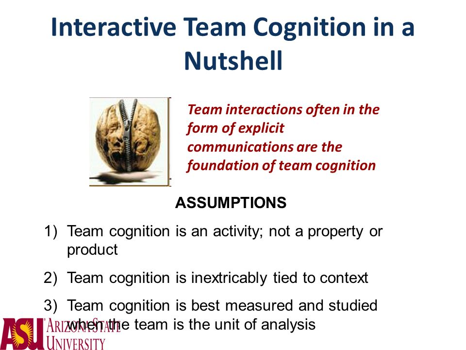 Interactive Team Cognition in a Nutshell