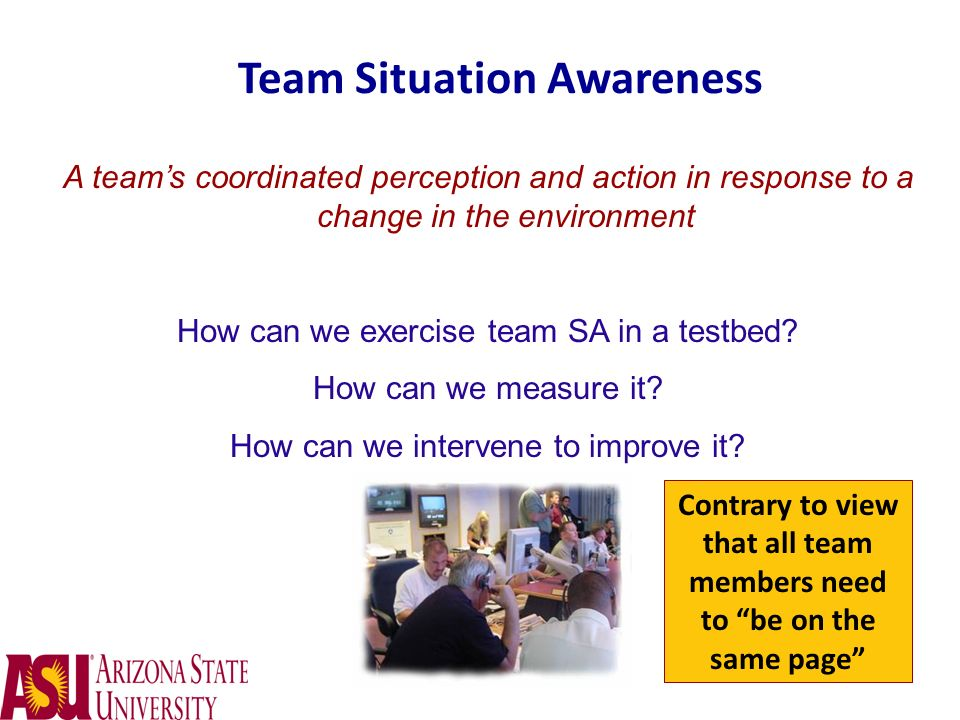 Team Situation Awareness