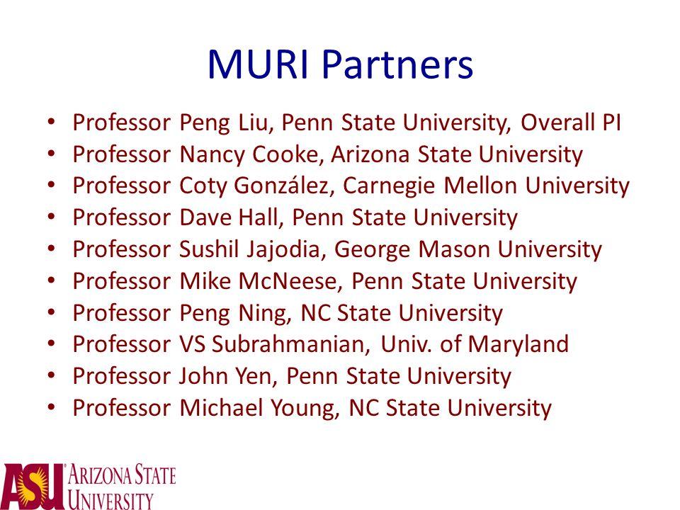 MURI Partners Professor Peng Liu, Penn State University, Overall PI