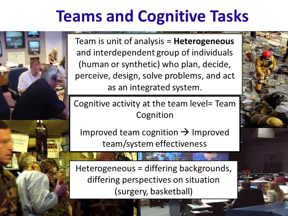 Teams and Cognitive Tasks