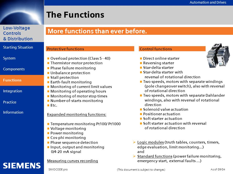 The Functions More functions than ever before.