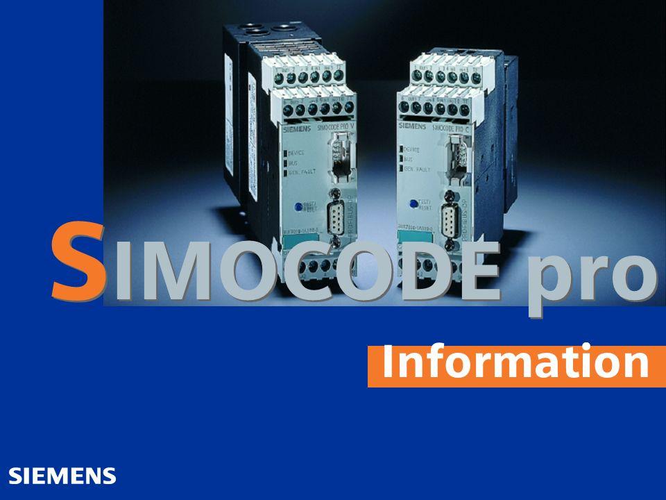 SIMOCODE pro Information