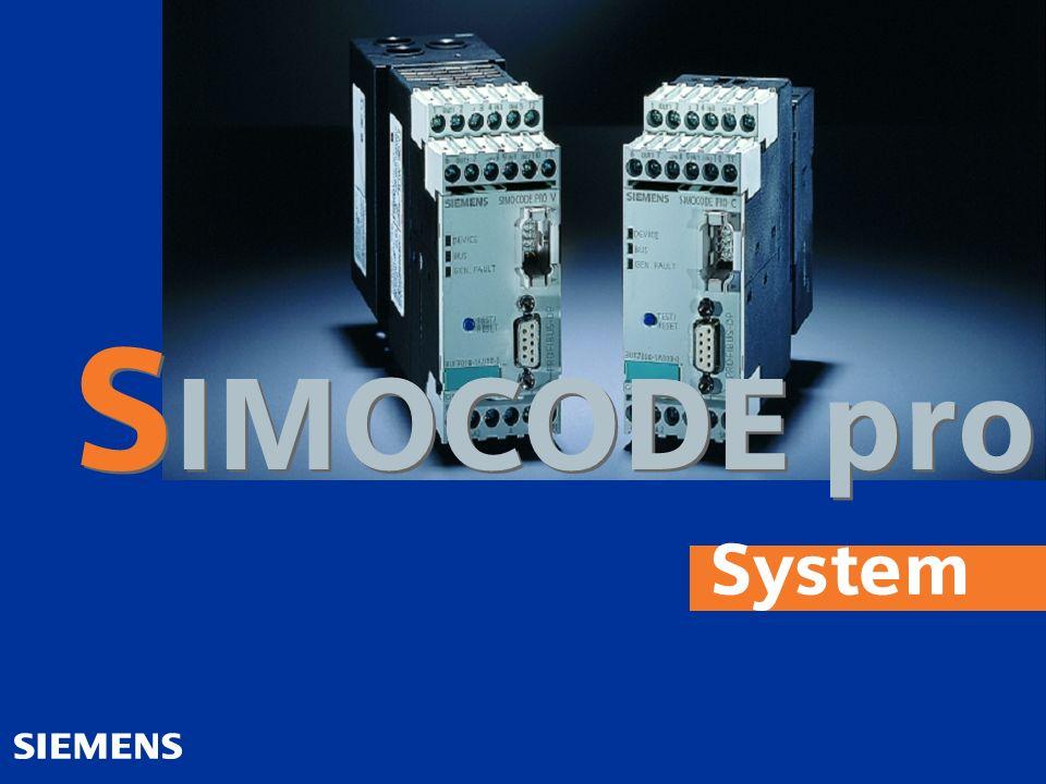 SIMOCODE pro System