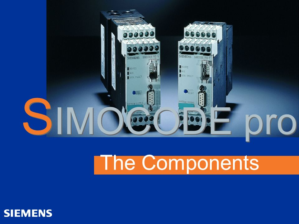 SIMOCODE pro The Components