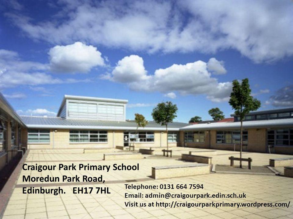 Craigour Park Primary School Moredun Park Road, Edinburgh. EH17 7HL
