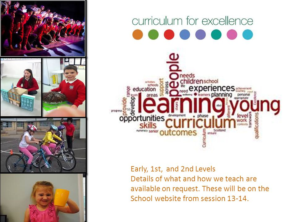 Early, 1st, and 2nd Levels Details of what and how we teach are. available on request. These will be on the.