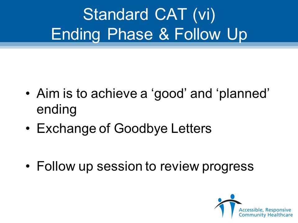 Standard CAT (vi) Ending Phase & Follow Up