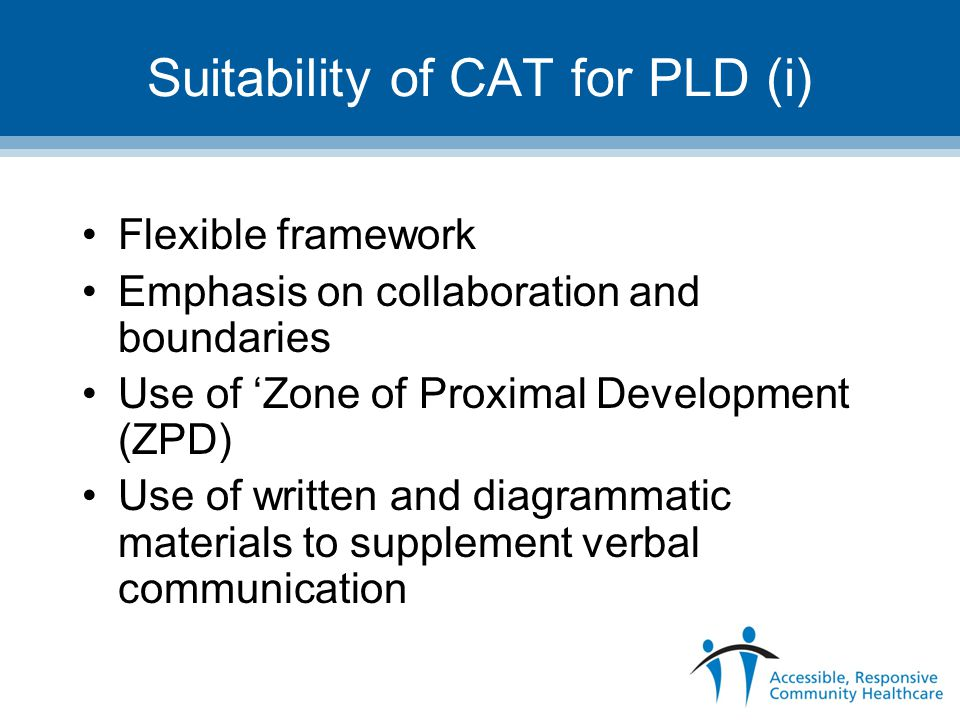 Suitability of CAT for PLD (i)