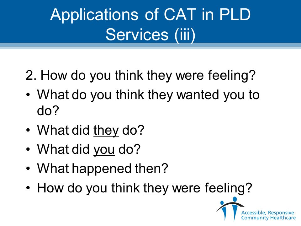 Applications of CAT in PLD Services (iii)