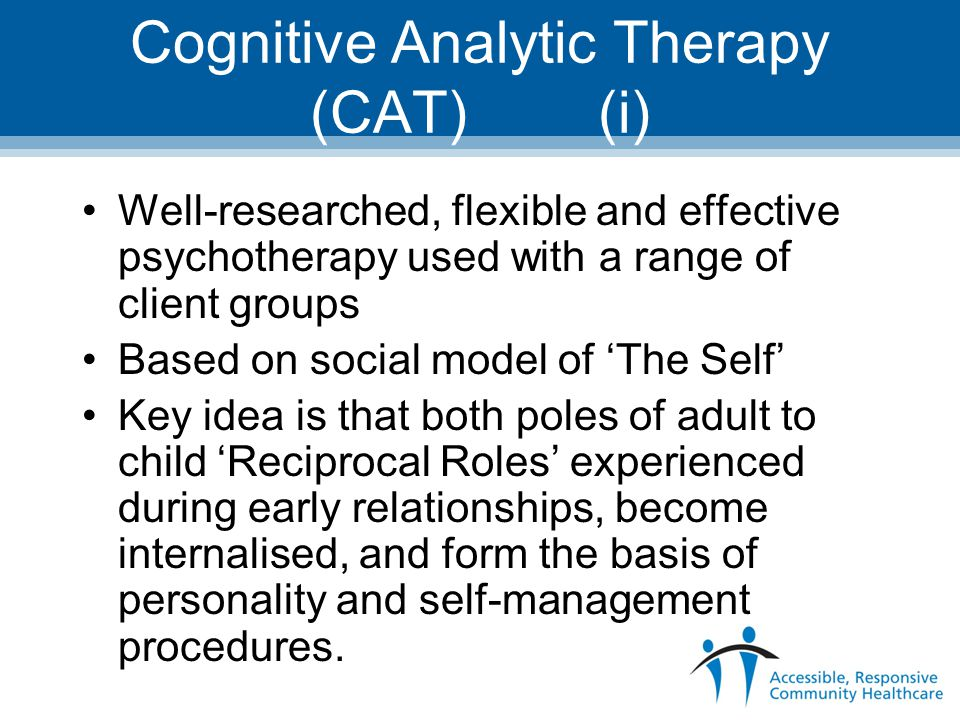 Cognitive Analytic Therapy (CAT) (i)