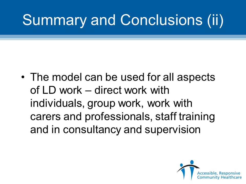Summary and Conclusions (ii)