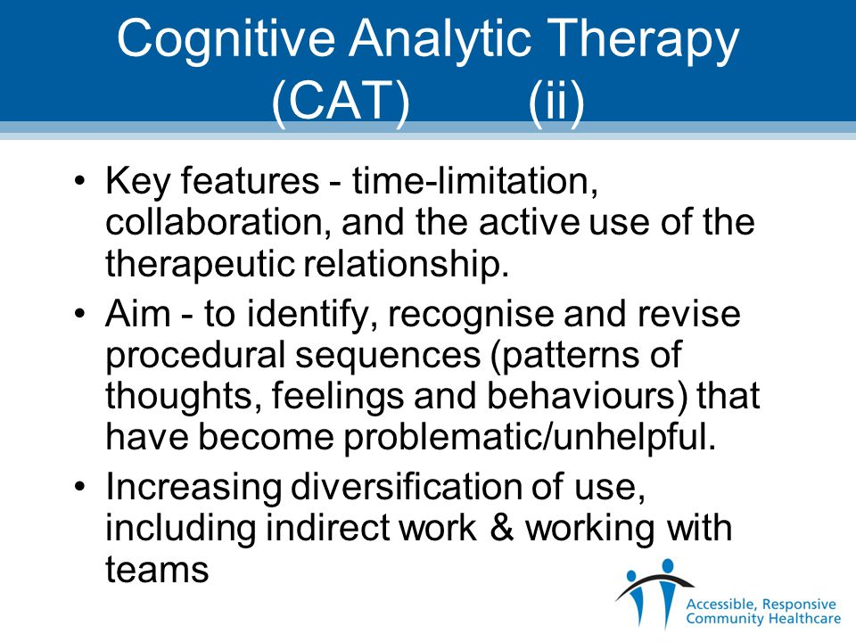 Cognitive Analytic Therapy (CAT) (ii)