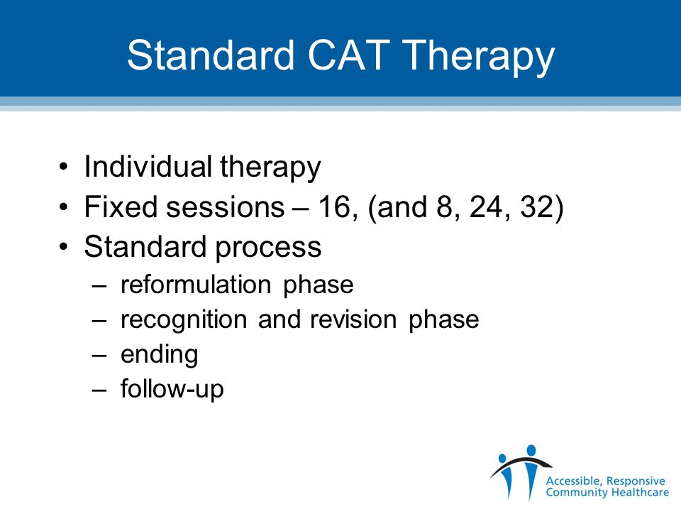 Standard CAT Therapy Individual therapy