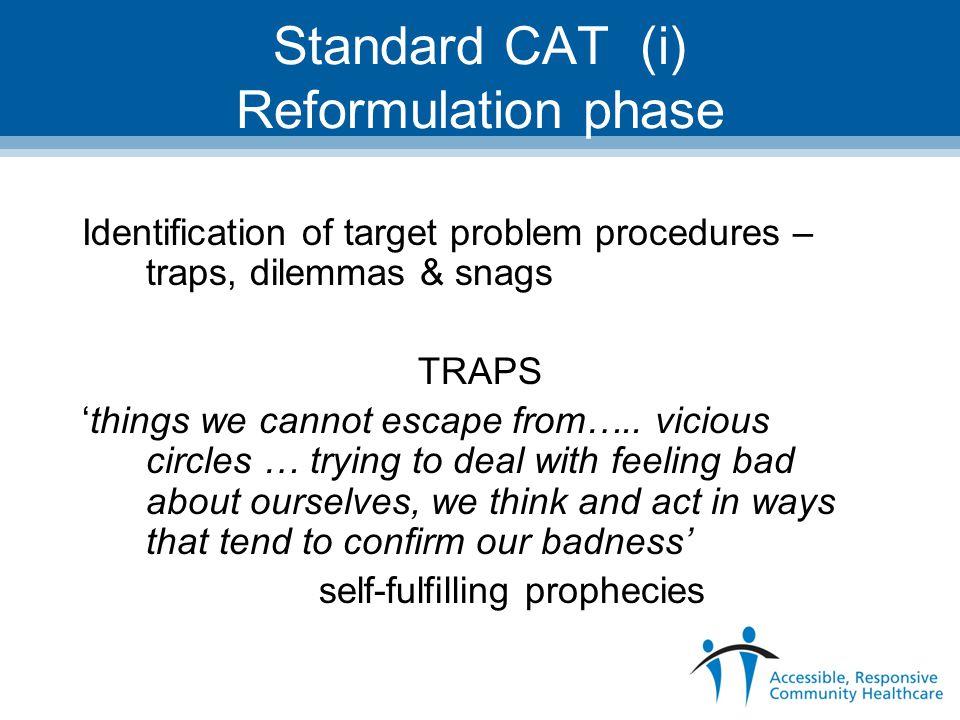 Standard CAT (i) Reformulation phase