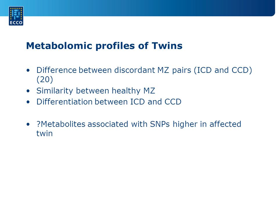 Metabolomic profiles of Twins