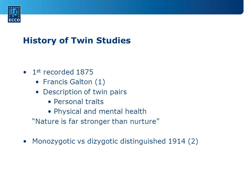 History of Twin Studies
