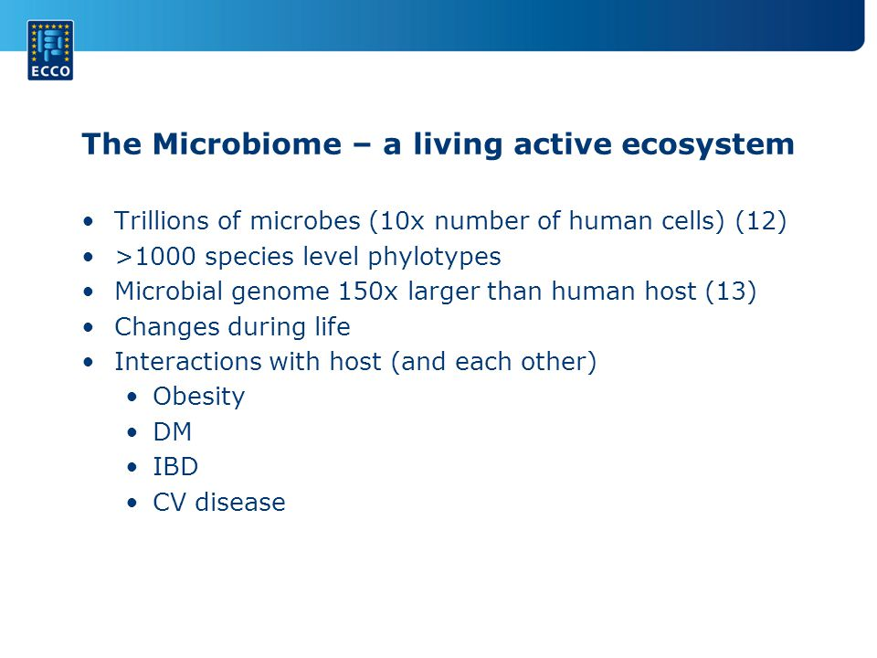The Microbiome – a living active ecosystem