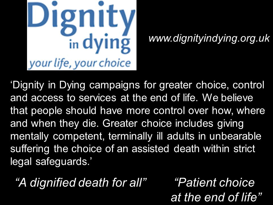 A dignified death for all