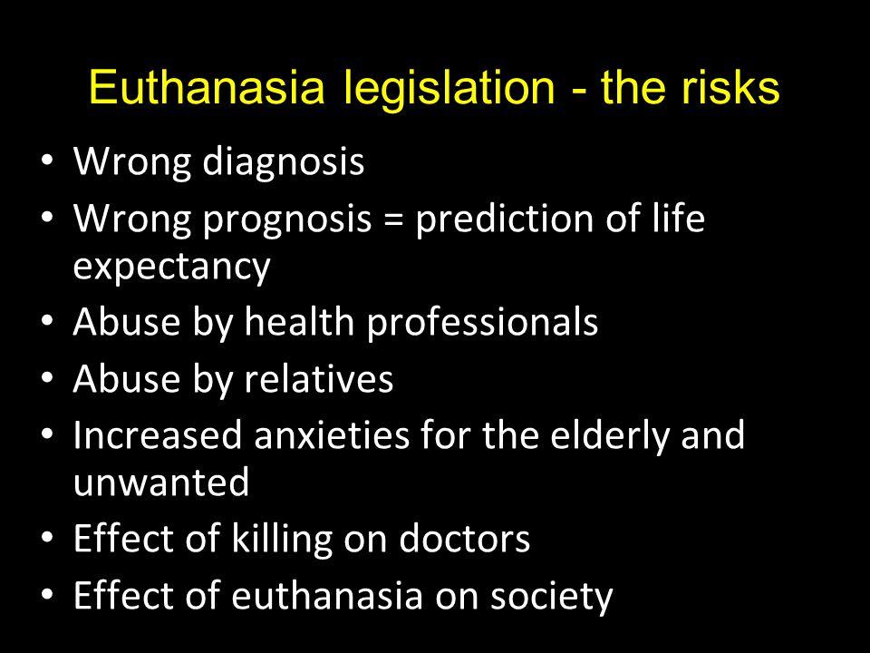 Euthanasia legislation - the risks