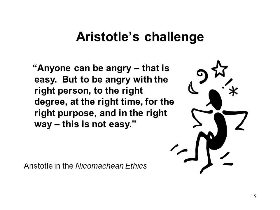 Aristotle's challenge