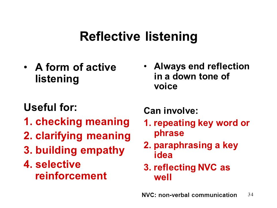 NVC: non-verbal communication