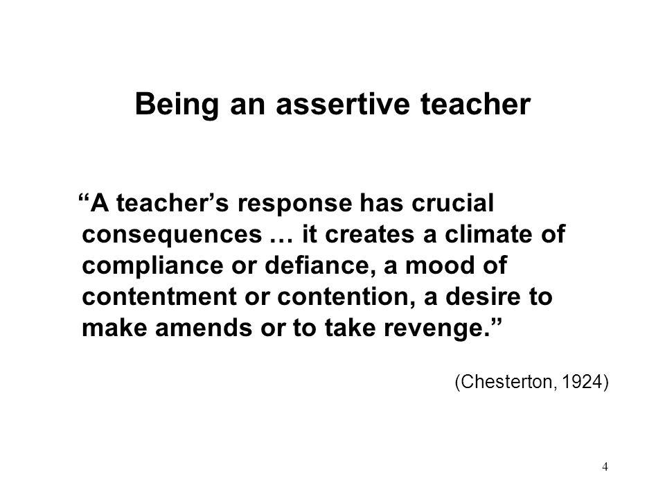Being an assertive teacher