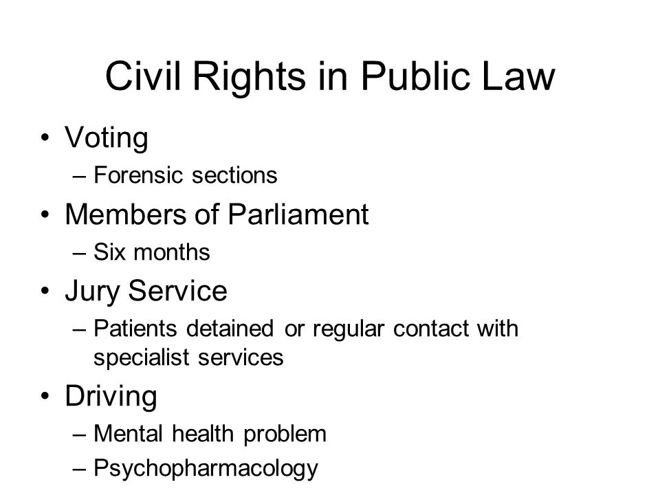 Civil Rights in Public Law