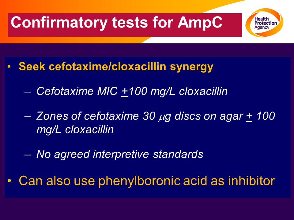 Confirmatory tests for AmpC