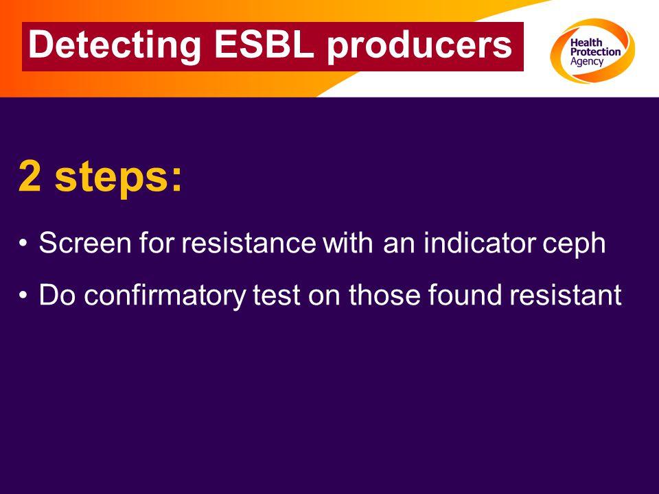Detecting ESBL producers
