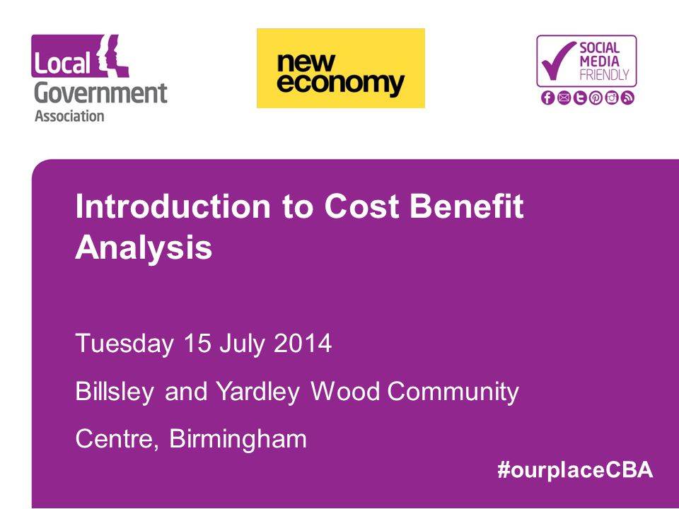 Introduction to Cost Benefit Analysis