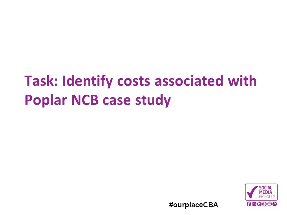 Task: Identify costs associated with Poplar NCB case study