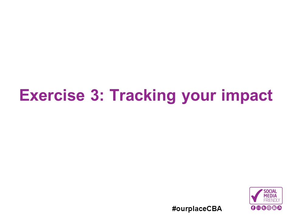 Exercise 3: Tracking your impact