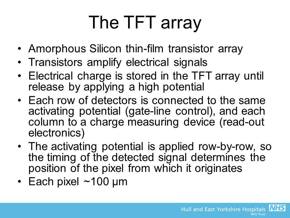 The TFT array Amorphous Silicon thin-film transistor array