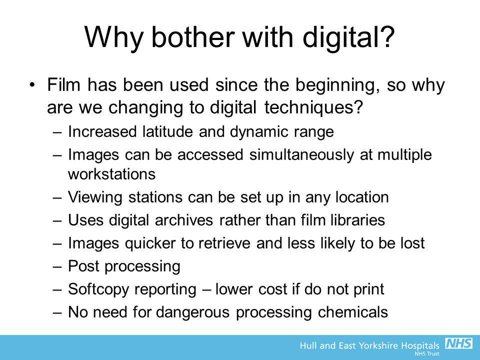 Why bother with digital