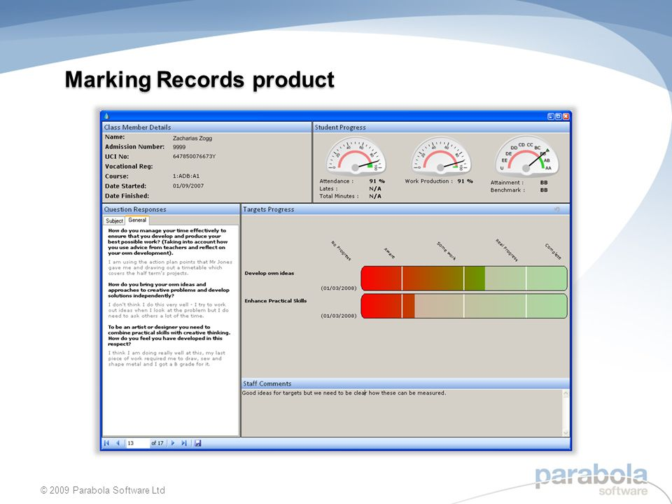 Marking Records product