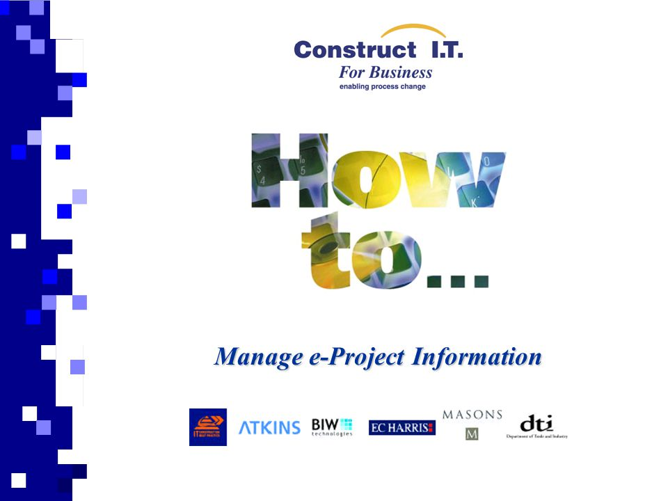Manage e-Project Information
