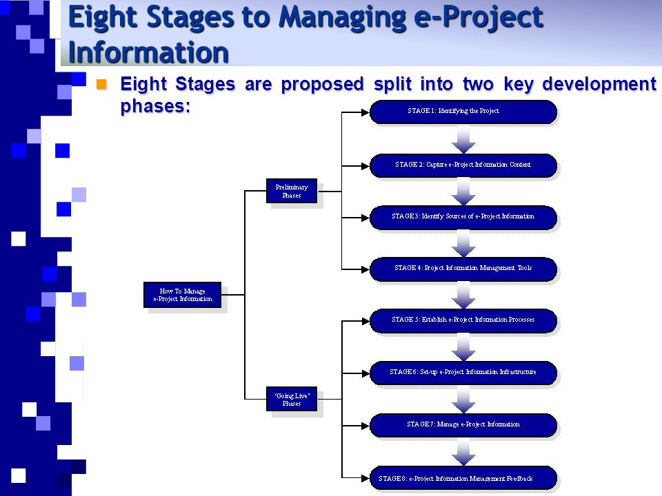 Eight Stages to Managing e-Project Information