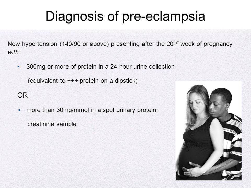 Diagnosis of pre-eclampsia