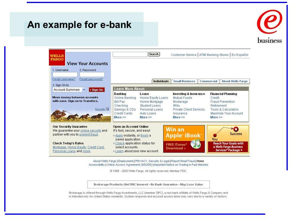 An example for e-bank
