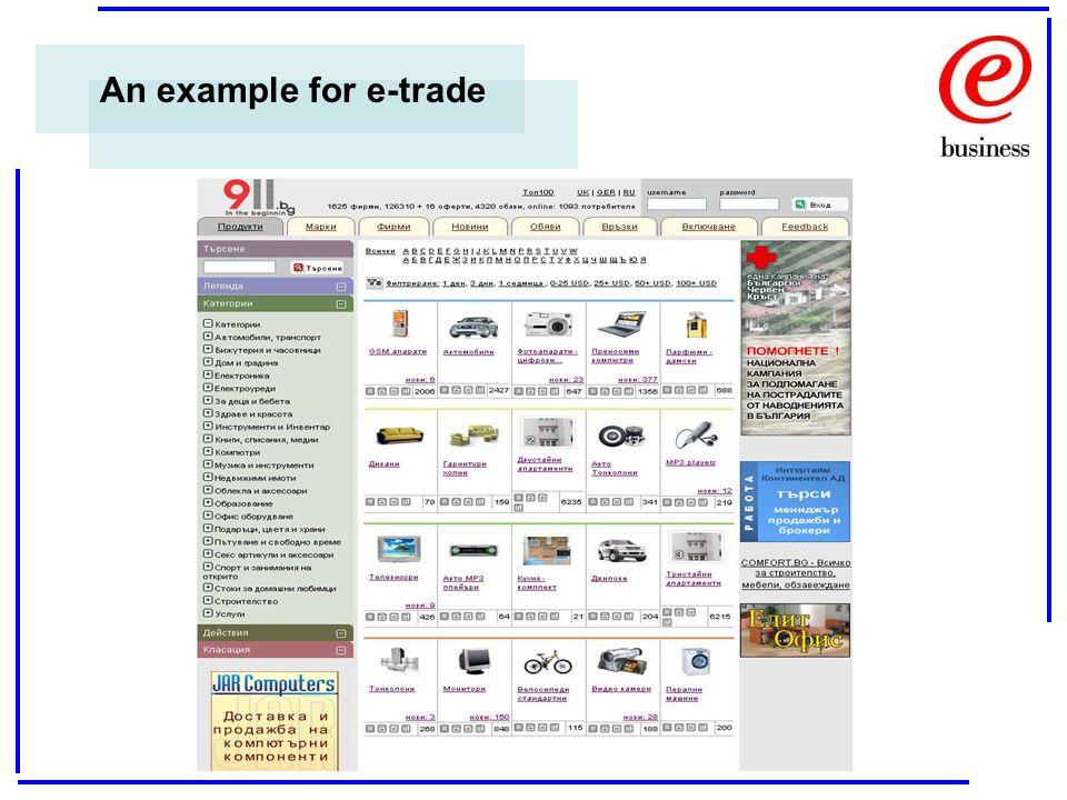 An example for e-trade