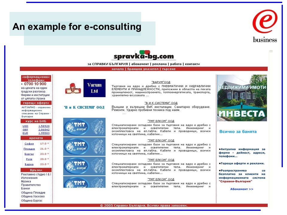 An example for e-consulting