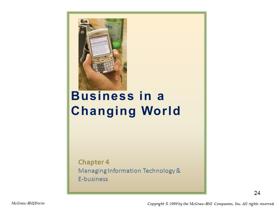 Chapter 4 Managing Information Technology & E-business