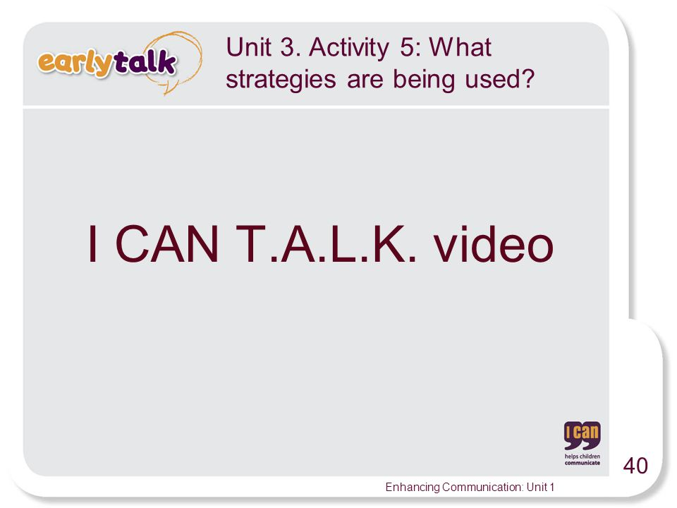 Unit 3. Activity 5: What strategies are being used
