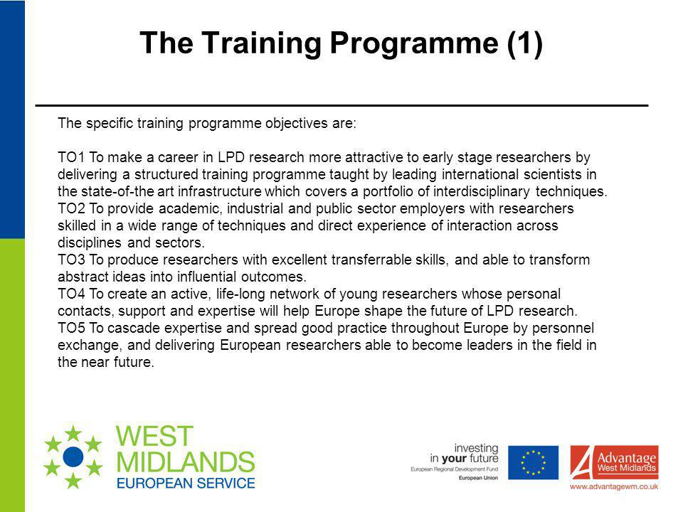 The Training Programme (1)