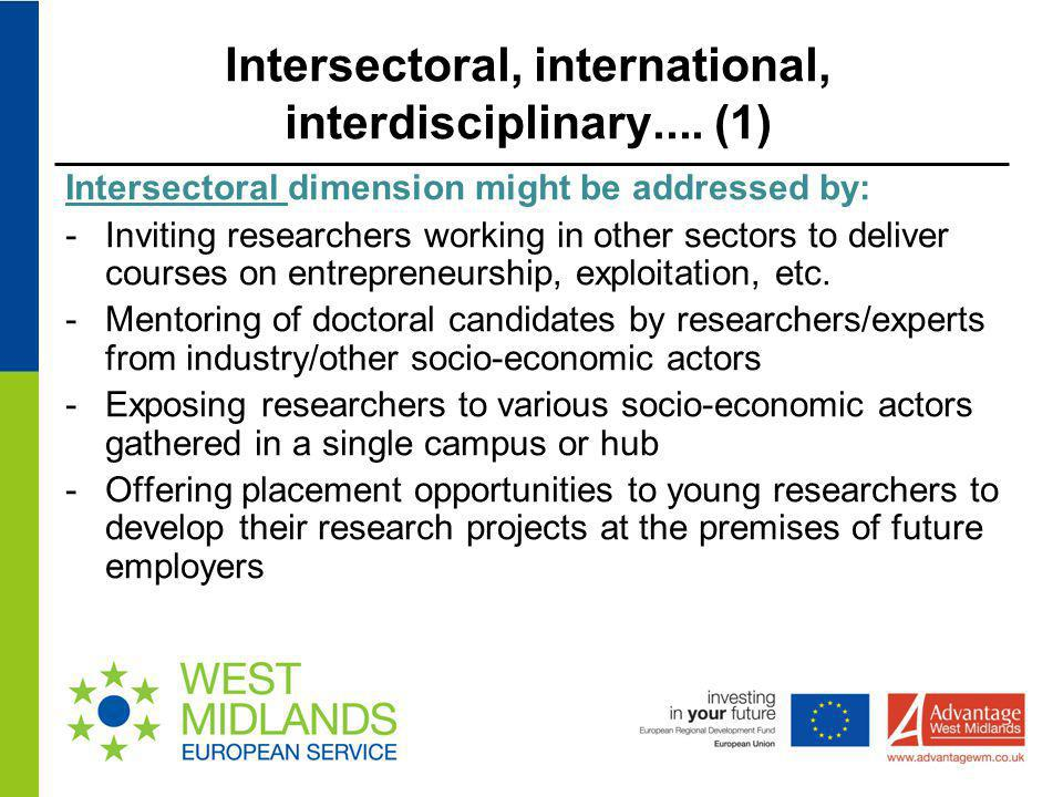 Intersectoral, international, interdisciplinary.... (1)