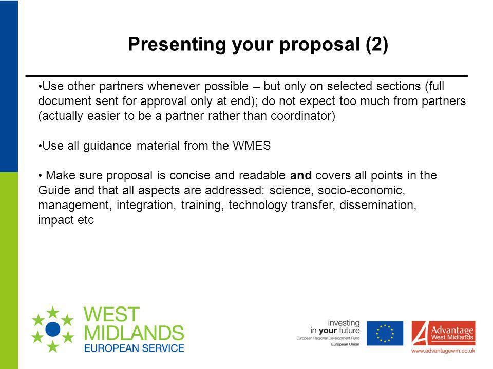 Presenting your proposal (2)