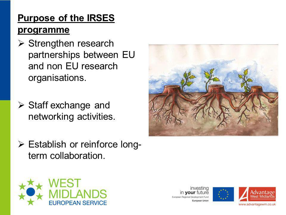 Purpose of the IRSES programme
