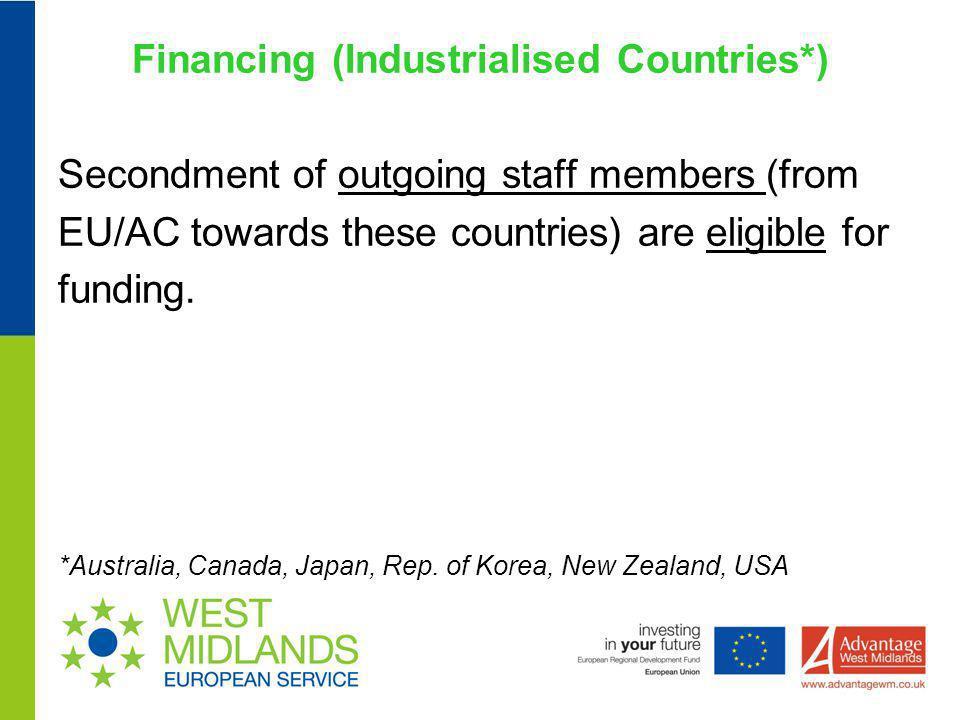Financing (Industrialised Countries*)